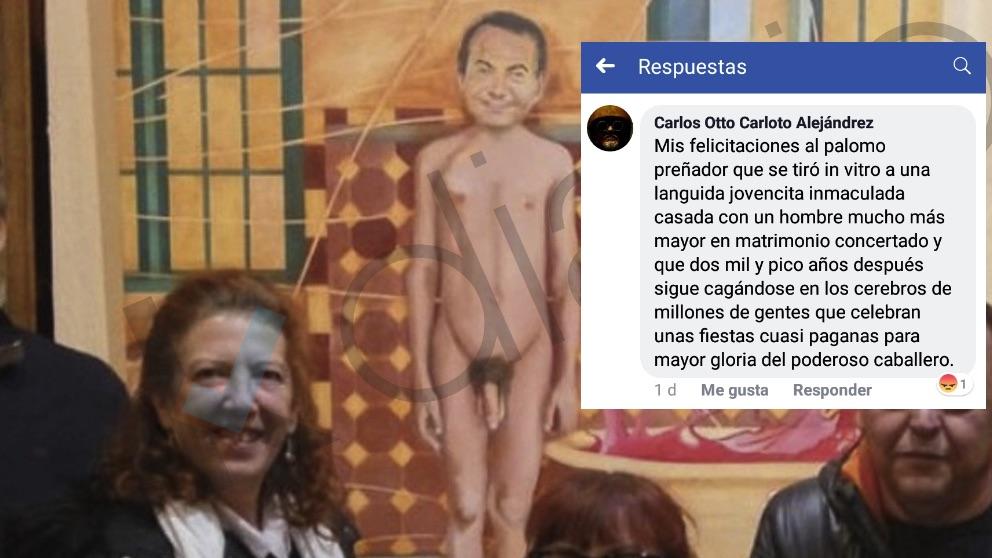 Imagen de Zapatero y el mensaje del candidato de Cambiemos Navalcarnero.