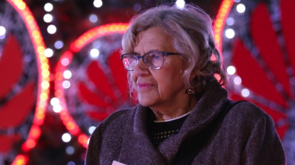 La alcaldesa Manuela Carmena en Navidad. (Foto. Madrid)