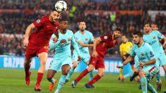 Manolas, autor del gol que supuso la eliminación del Barcelona en la pasada Champions League