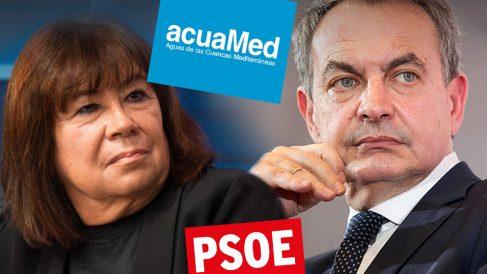 Cristina Narbona y José Luis Rodríguez Zapatero