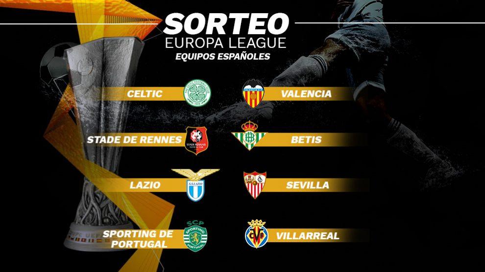 Cruce de los equipos españoles en la Europa League