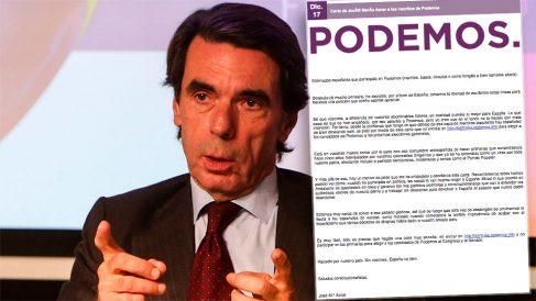 La carta falsa de José María Aznar dirigida a los inscritos de Podemos