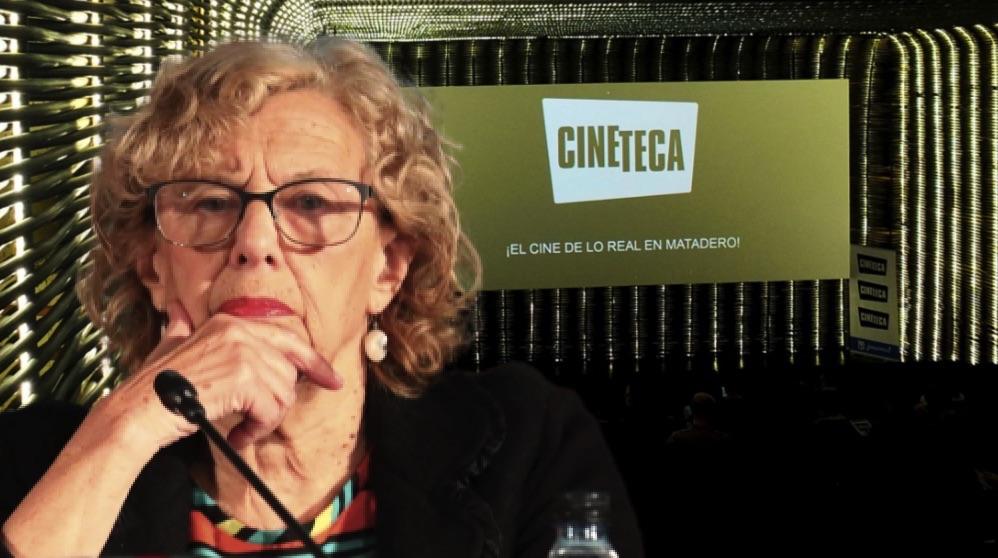 Imagen de la alcaldesa y de Cineteca Madrid.