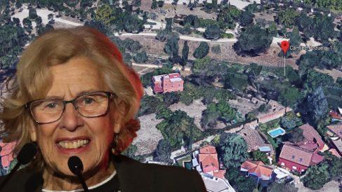Imagen de la alcaldesa y la parcela adquirida.
