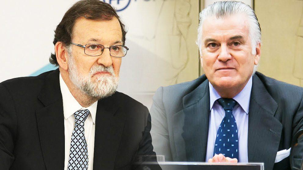 El ex presidente Mariano Rajoy y el ex tesorero del PP Luis Bárcenas.