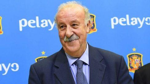 Vicente del Bosque, en un acto de homenaje con la selección.