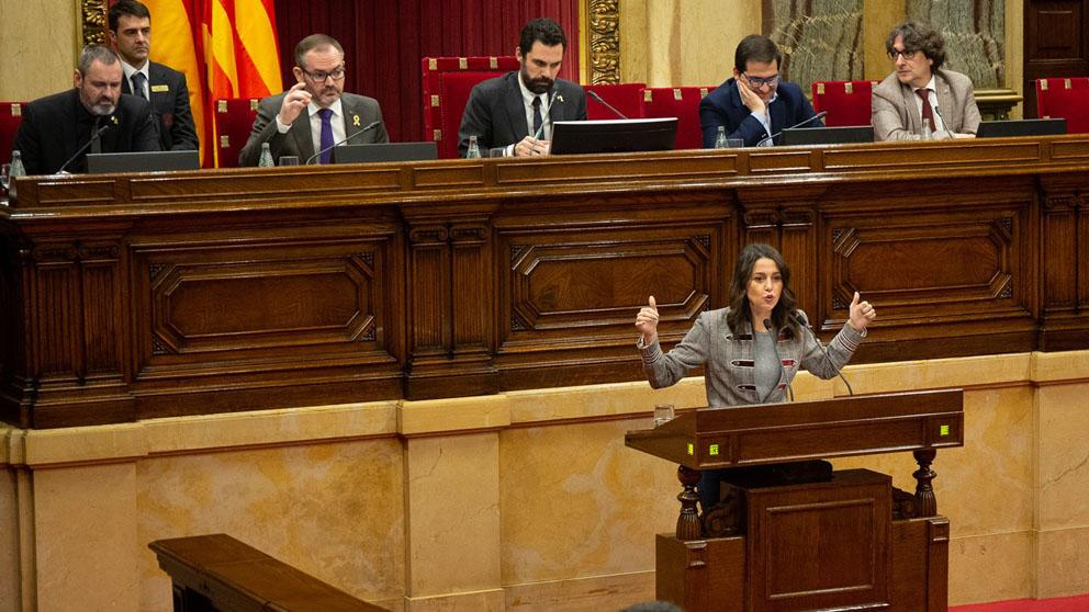 Inés Arrimadas en el Parlament (Foto: EP)
