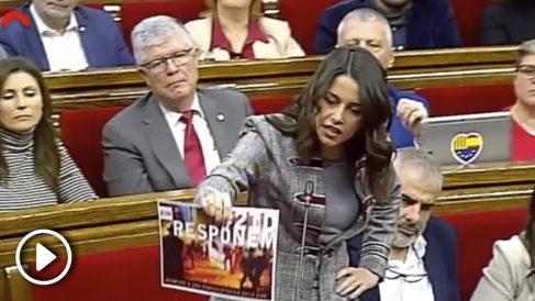 """Arrimadas acusa a Torra de amparar """"actos ilegales"""" de los CDR el 21-D"""