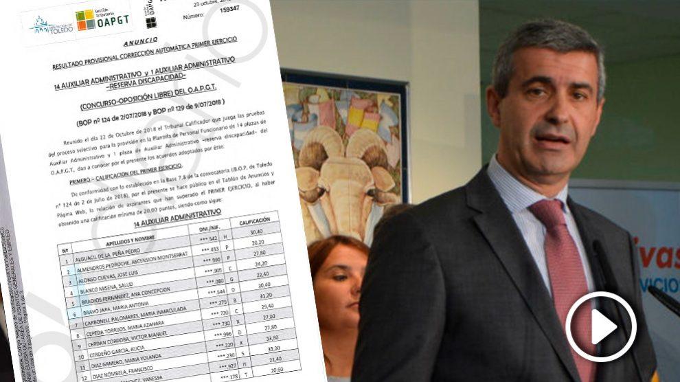 El presidente de la Diputación de Toledo, Álvaro Gutiérrez Prieto. (Foto: EP/OKDIARIO)