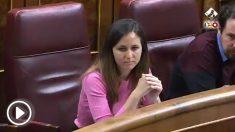 La diputada de Podemos, Ione Belarra, carga contra Pablo Casado por defender la prisión permanente revisable