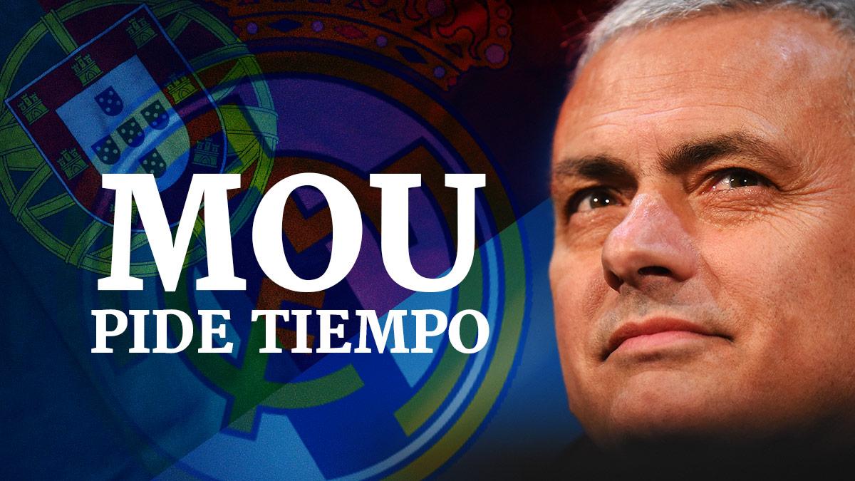 Mou pide tiempo al Real Madrid.