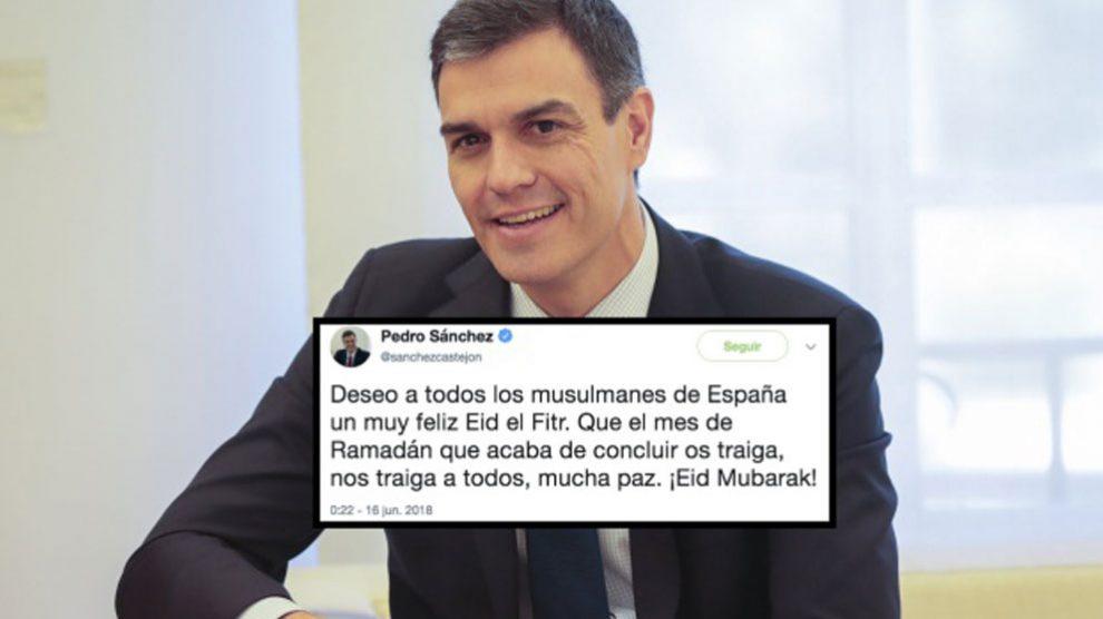 El presidente del Gobierno, Pedro Sánchez, y su felicitación del Ramadán.