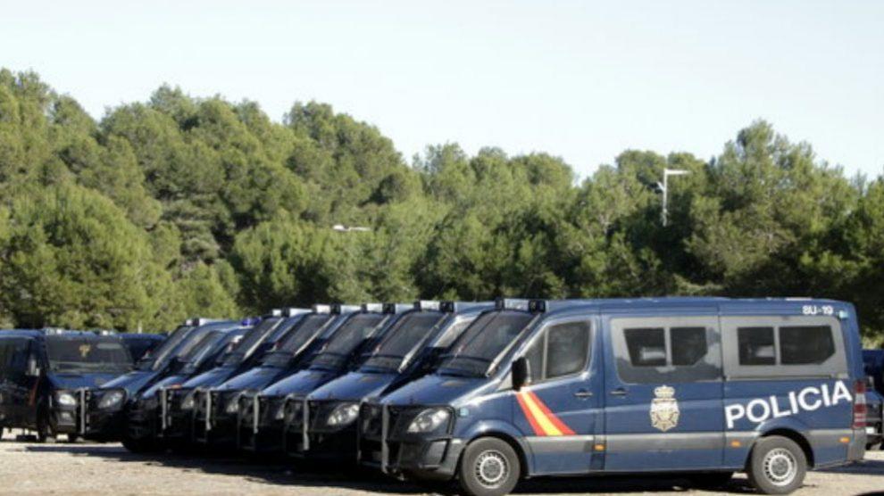 Policías Nacionales llegan a Salou para el 21-D