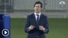 Solari durante el encuentro del Mundial de Clubes entre Real Madrid y Kashima