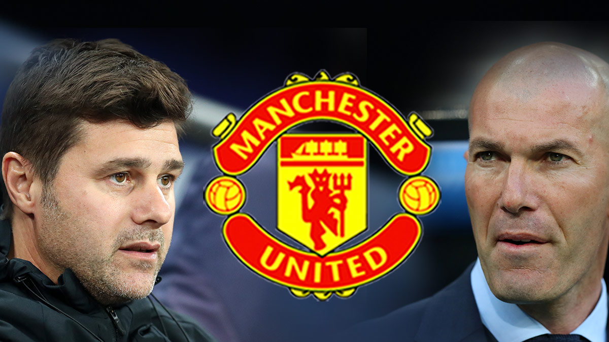 Zidane y Pochettino, los dos favoritos para sentarse en el banquillo de Old Trafford.