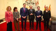 'Cumbre' entre Pedro Sánchez y Quim Torra el pasado diciembre en Barcelona.