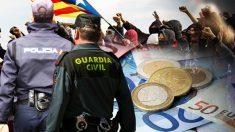 Policía y Guardia Civil en Cataluña.