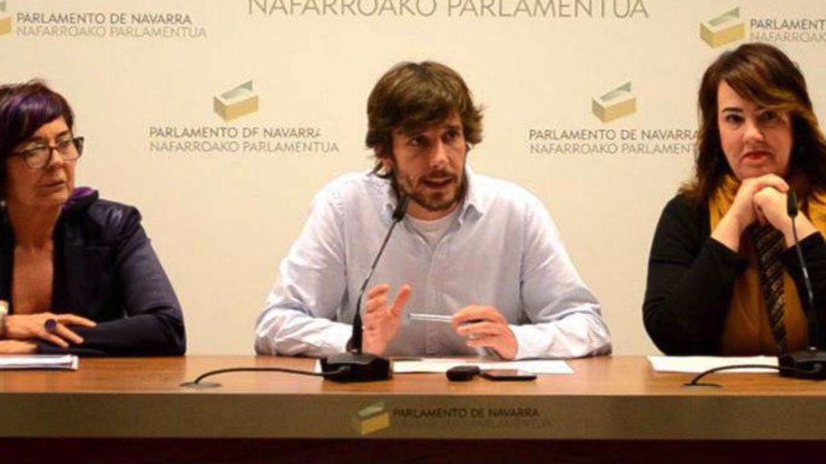 Diputados expulsados de Podemos Navarra (RRSS).