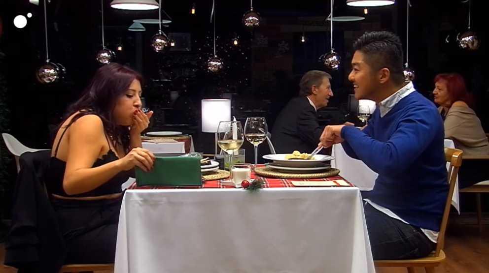 Yoshy y Wendy en 'First Dates'