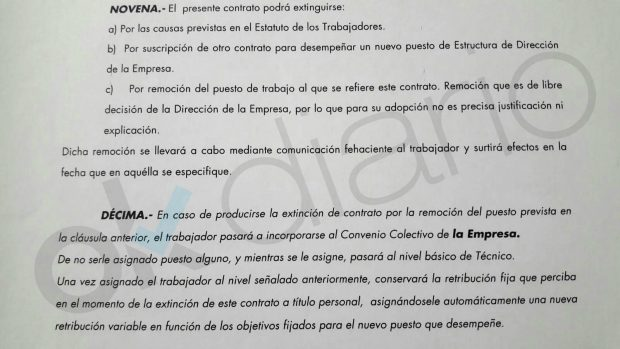 Pardo obliga a firmar cláusulas