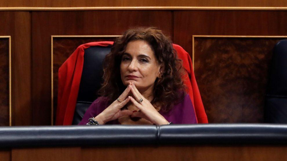 María Jesús Montero, ministra de Hacienda, hoy en el Congreso