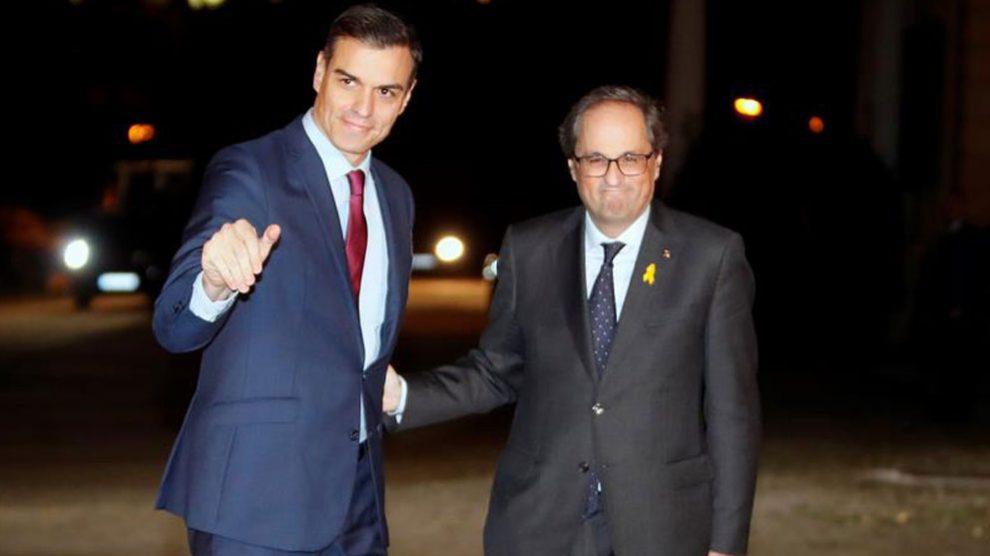 Pedro Sánchez y Quim Torra, este jueves.