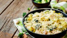 Receta de pollo con verduras y queso