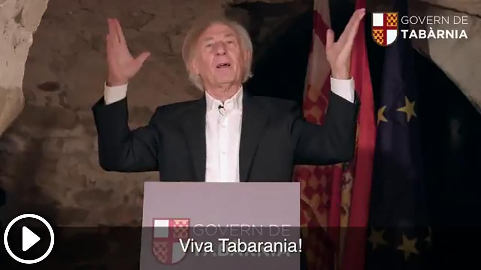 El presidente de Tabarnia, Albert Boadella, le dedica un villancico a los separatistas para felicitarles la Navidad