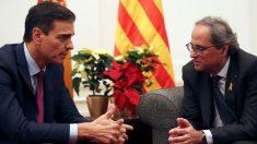 Pedro Sánchez y Quim Torra. Foto: Moncloa.