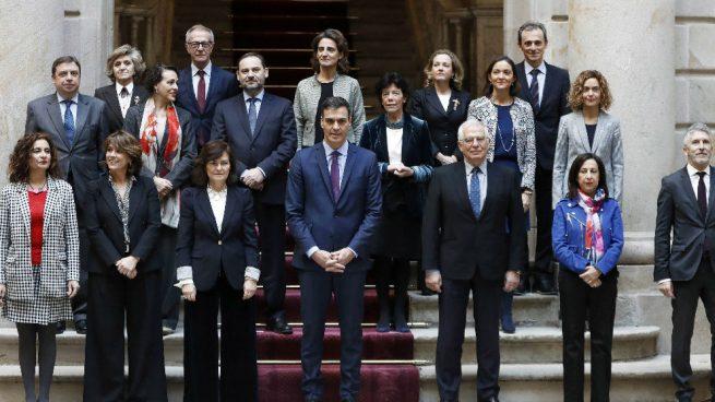 Foto de familia del Consejo de Ministros celebrado en Barcelona el pasado 21 de diciembre.