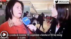 Una ciudadana indignada en TVE: «¡Quiero el 155 ya!»