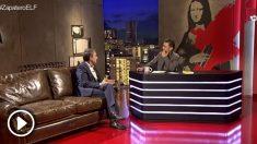 Zapatero entrevistado en el programa 'En la Frontera' que dirige Juan Carlos Monedero.