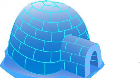 El iglú una construcción de lo más interesante.