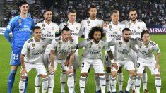 Once del Real Madrid ante el Kashima. (AFP)