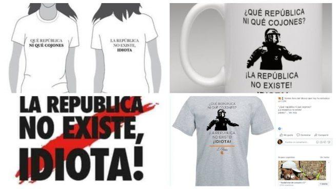 La frase del mosso de los «collons» se convierte en el icono que ridiculiza al separatismo en tazas y camisetas