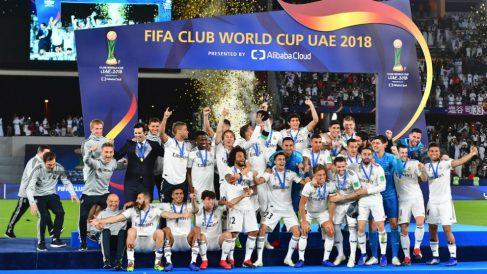 El Real Madrid celebra el Mundial de Clubes.