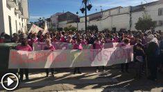 Manifestación en El Campillo (Huelva), en recuerdo de Laura Luelmo.