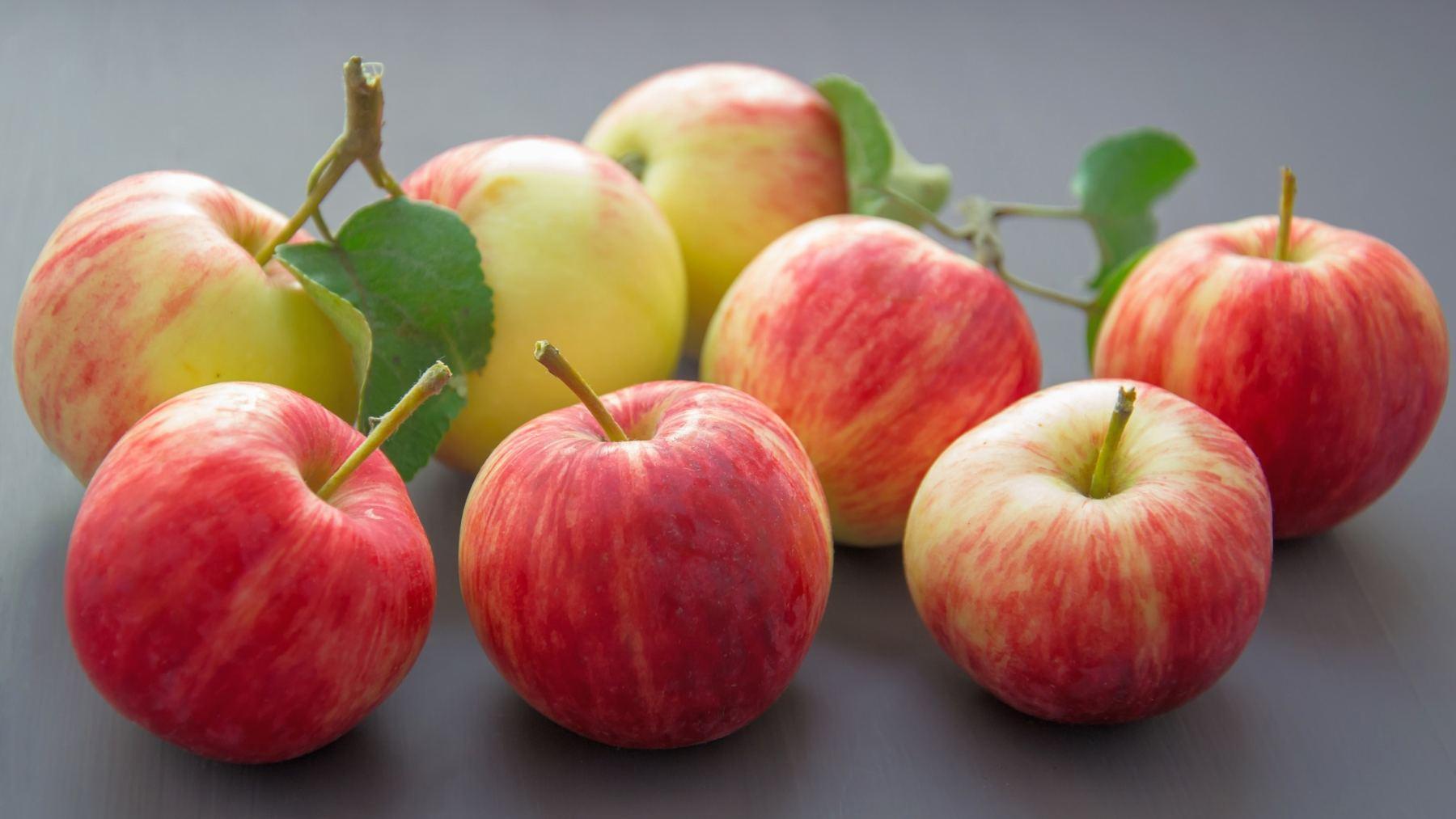 Variedades de manzana roja