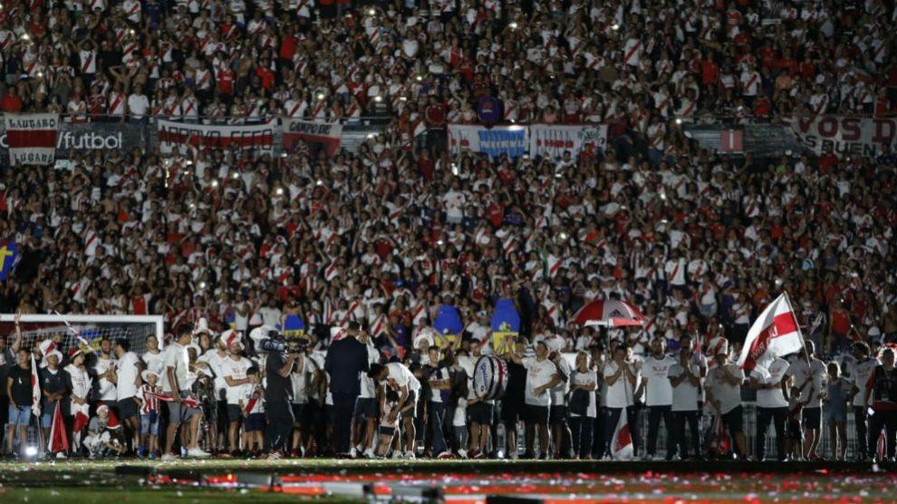 La gente de River Plate se dio un homenaje en el Monumental.