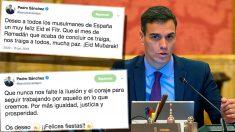 Los tuits de Pedro Sánchez con los que evita felicitar la Navidad pero sí el Ramadán a los musulmanes