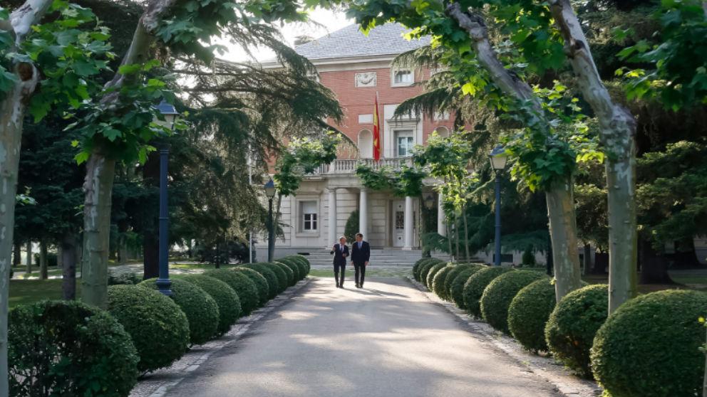 Pedro Sánchez, por los jardines de La Moncloa.