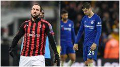 Higuaín y Morata podrían cambiar de equipos. (AFP/Getty)