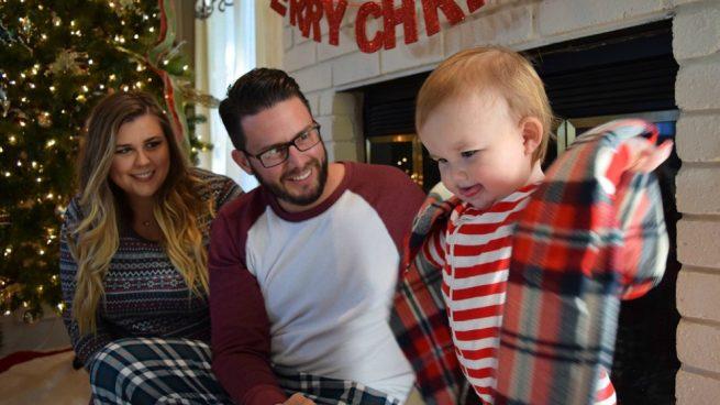 Navidad feliz en familia