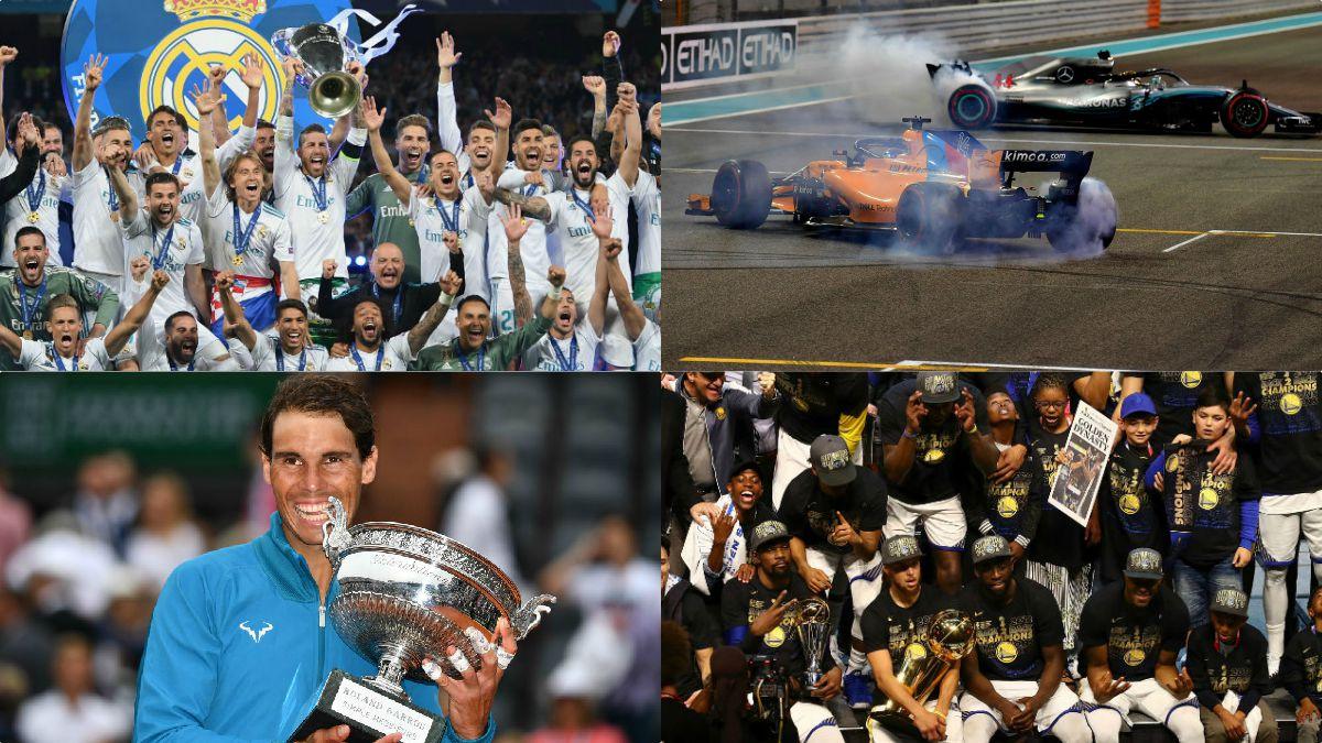 Nadal, Fernando Alonso o el Real Madrid, protagonizan los 10 momentos deportivos inolvidables del 2018