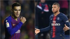 El FC Barcelona podría plantear un trueque Mbappé-Coutinho.
