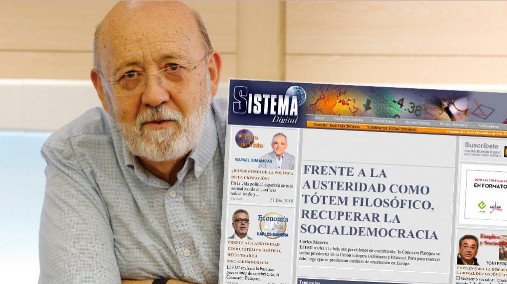 Tezanos y su revista 'Sistema»