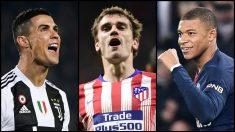 Cristiano, Griezmann y Mbappé han sido nominados al premio Globe Soccer