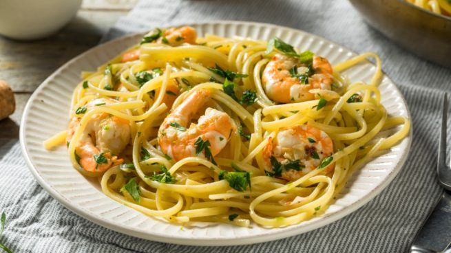 pasta con vainilla y parmesano