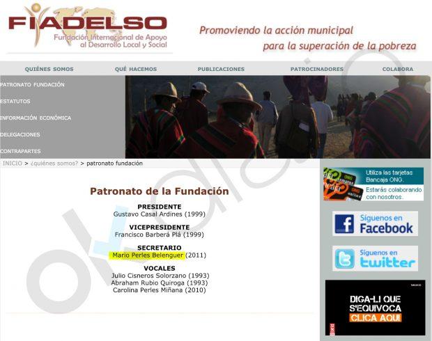 Organigrama de la Fundación FIADELSO