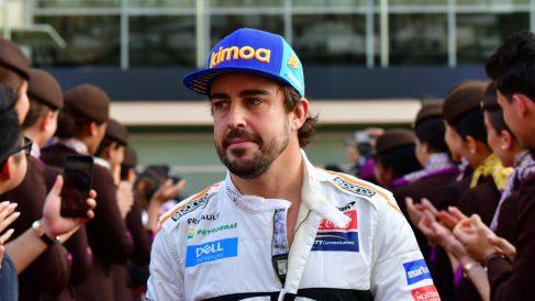 Fernando Alonso buscará la Triple Corona ganando las 500 millas de Indianápolis en 2019 (AFP).